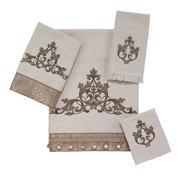 Monaco 4 Piece 100% Cotton Towel Set by Avanti Linens